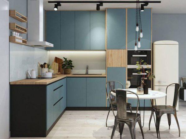 tủ bếp đẹp hiện đại giá rẻ cho chung cư nhà ống tphcm