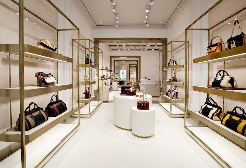 thiết kế nội thất shop túi xách phụ kiện thời trang