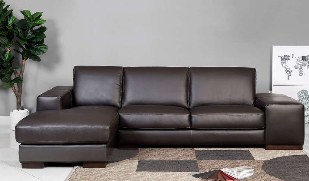 sofa góc bọc da đẹp
