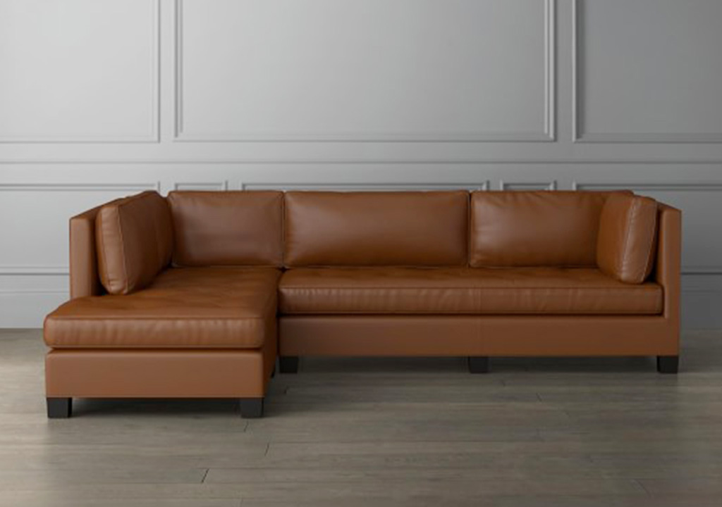 sofa góc màu da bò