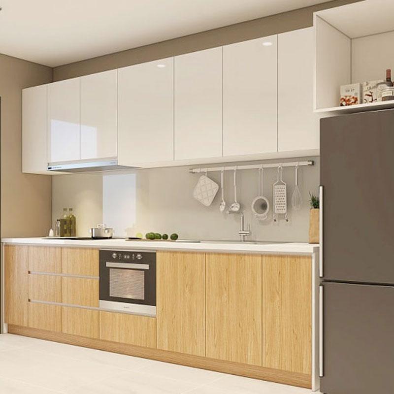 Tủ bếp thẳng hiện đại đẹp giá rẻ tphcm