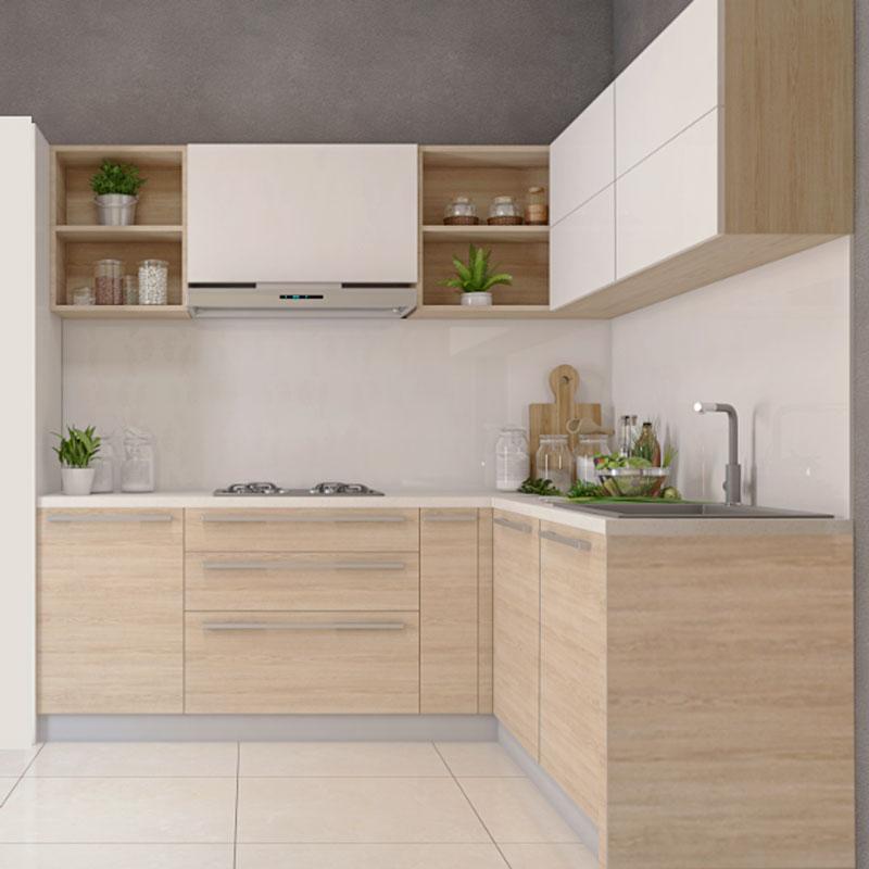 Tủ bếp hình chữ L hiện đại đẹp giá rẻ tphcm